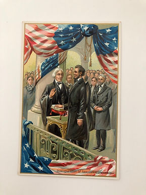 Antique 1900's Inauguration of Abraham Lincoln Postcard SAXONY made Tuck & Sons