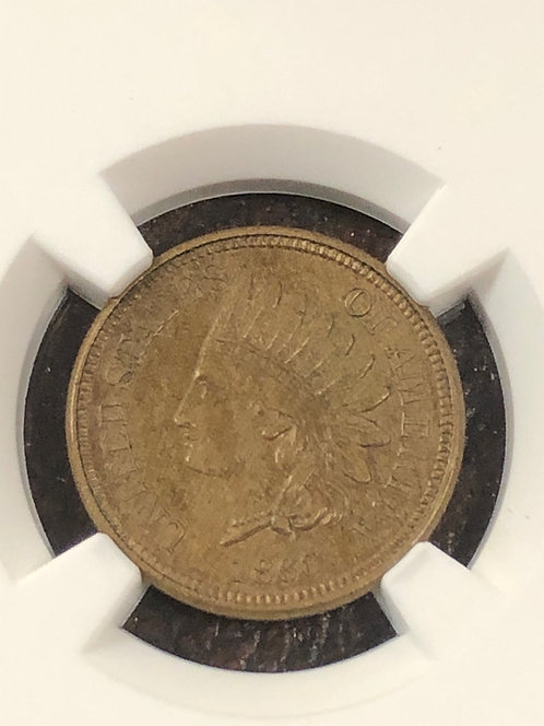 1860 Indian Head Cent NGC graded MS62