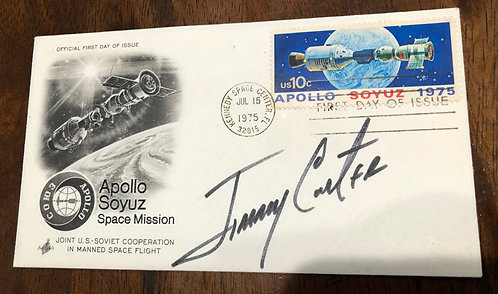 VERY RARE First Day Cover 1975 Apollo Soyuz Mission President Jimmy Carter