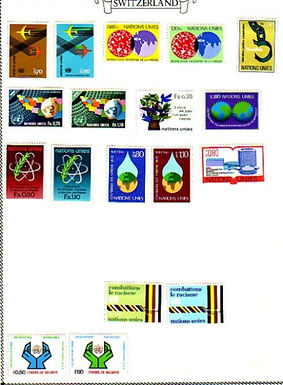 SWITZERLAND Stamp Collection 1960-1983 section in Minkus album, Lot 1359