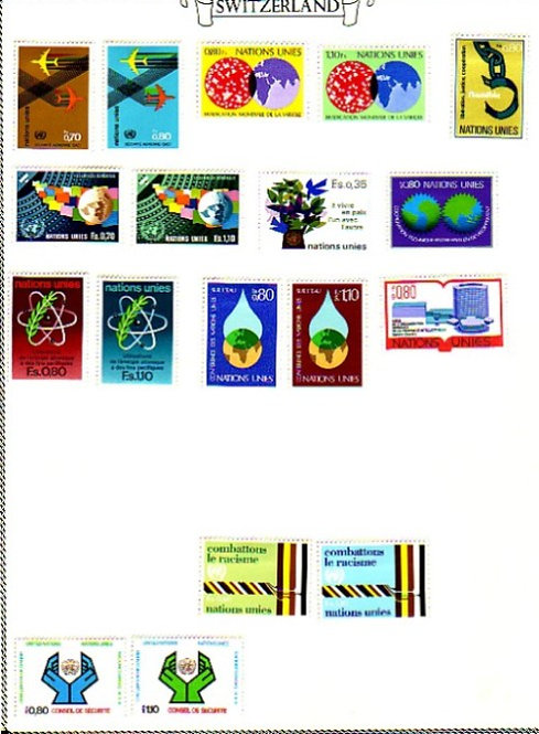 SWITZERLAND Stamp Collection 1960-1983 section in Minkus album, Lot 1359