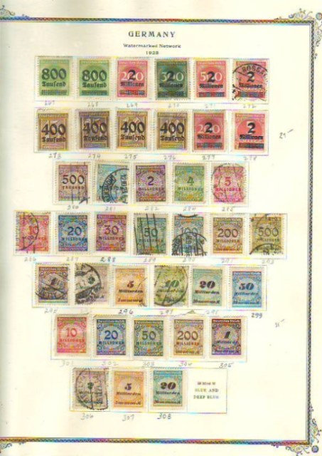 Germany Stamp Collection Lot 1502 to 1971 in Scott album