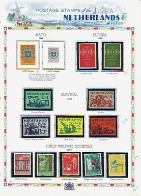 Netherlands Stamp Collection Lot 1523 -2 Volumes