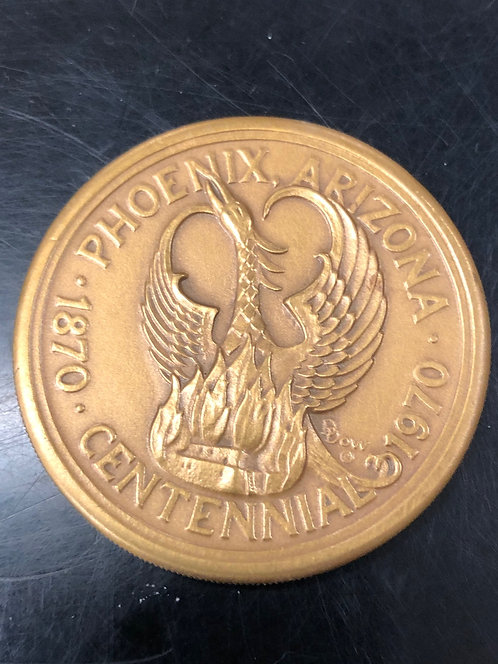 Bronze Phoenix Arizona Centennial by Medallic Arts