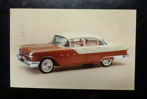 1955 PONTIAC STAR CHIEF Custom four-door Sedan Advertising Postcard Galeton PA