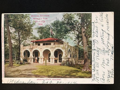 1904 St. Louis Exposition Postcard, Arizona State Building