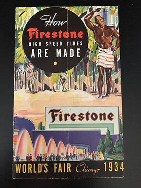 Century Of Progress Chicago Worlds Fair - 1934 Firestone Tires Booklet