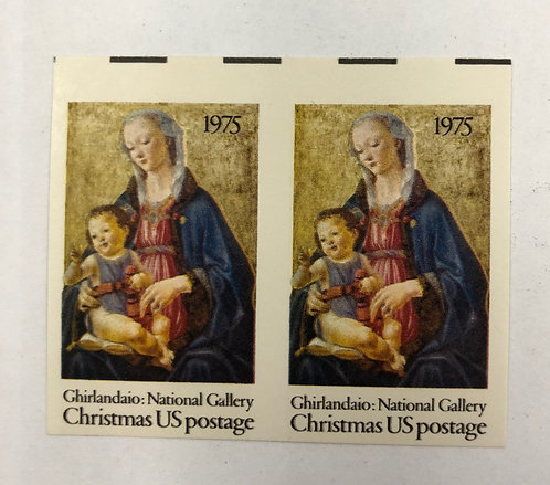 1579a, 1975 Christmas imperf sheet pair Stamps