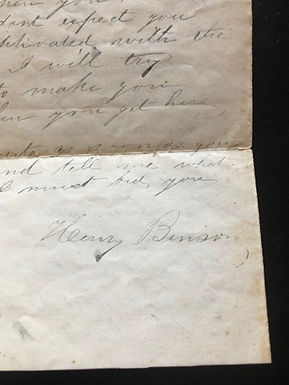 1853 Dallas TX Letter, Husband's Reply - Wife Pregnant w/ Twins