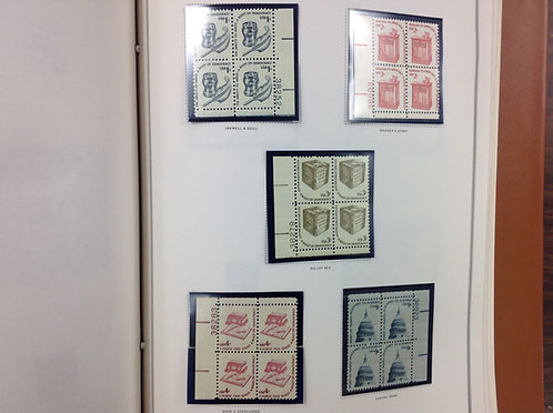 U.S. Stamp Collection -Plate Block Album 1977-1993 Lot 1574