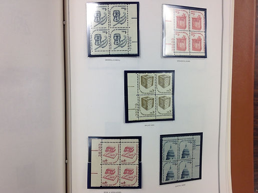 U.S. Stamp Collection -Plate Block Album 1977-1993 Lot 1574