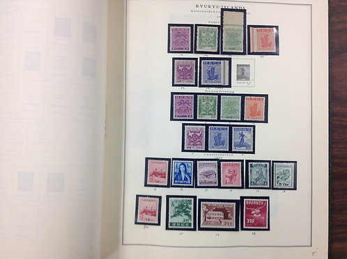 Ryukyu Islands Stamp collection -Lot 1569