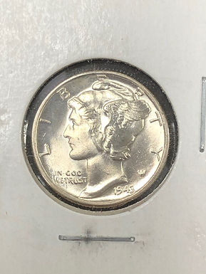 1943 P Mercury Silver Dime MS65 FULL BANDS