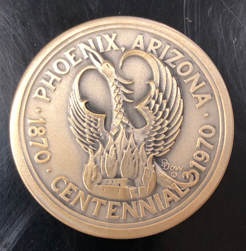 Silver Phoenix Arizona Centennial by Medallic Arts
