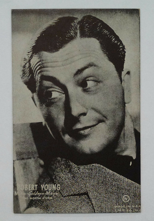1940's postcard Robert Young Film ACTOR, Father Knows Best, Marcus Welby MD