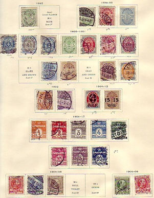 Denmark Stamp Collection with better classic issues -Lot 1390
