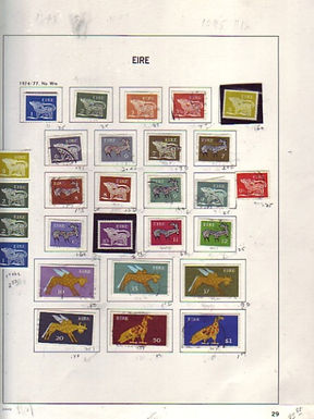 Ireland Stamp Collection- Davo pages to 1996
