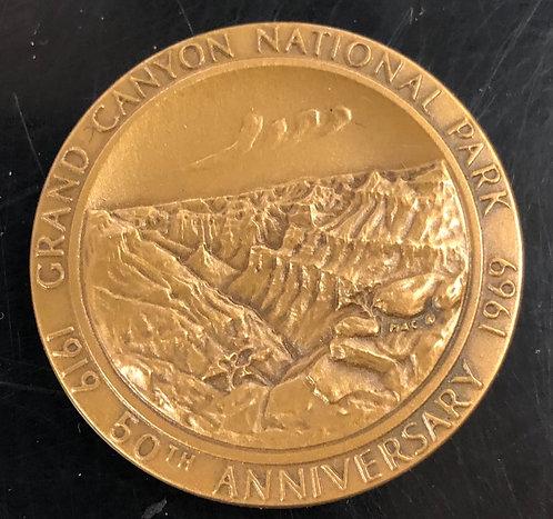 1969 Arizona Grand Canyon 50th Anniversary Bronze