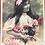 Thumbnail: SET OF 2: 1908 Happy Birthday, Bonne Fete Postcards RPPC Edwardian girls flowers
