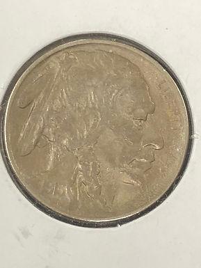 1913 P, Type 2, Buffalo Nickel, AU
