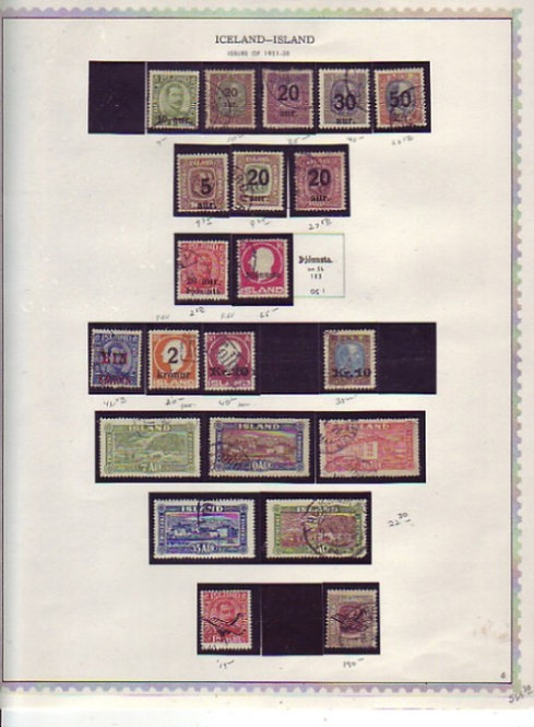 ICELAND Stamp Collection - 1947-1983, Lot 1453
