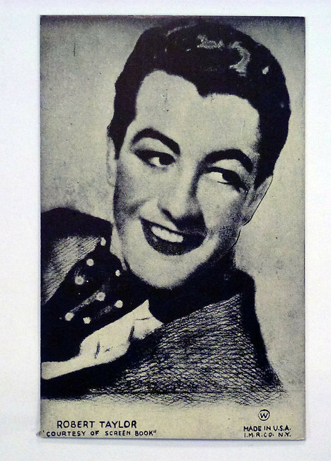 Antique Postcard Robert Taylor, MGM actor Old Mutoscope
