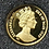 1989 Isle Of Man Persian Cat Gold 1/25 oz Fresh Proof .999 Gold