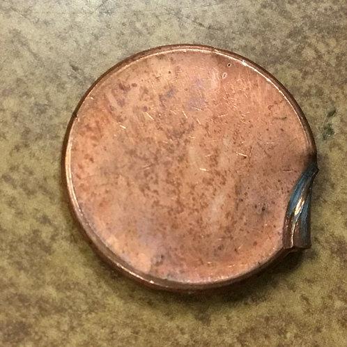 LINCOLN cent struck 99% off center ERROR small folded Edge Strike