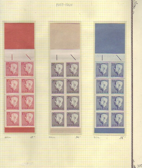 SWEDEN Stamp Collection - 1872-1967 with many full booklets, Lot 1338