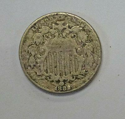1882 5 Cents SHIELD NICKEL  Die Chip ERROR