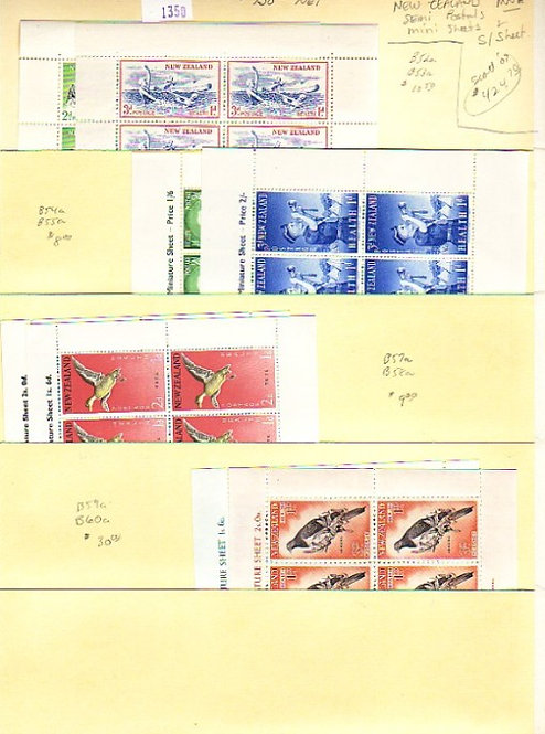 New Zealand Stamp Collection - Lot 1350