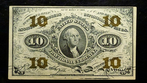 10¢ TEN CENT Fractional Currency 3rd ISSUE FR 1255
