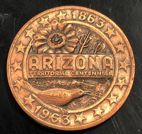 Arizona Territorial Centennial Copper Medal