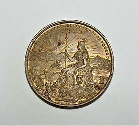 1893 2¢ COLOMBIAN Expo Elongated SCARCE
