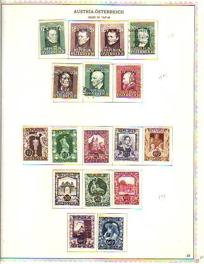 Austria Stamp Collection Lot 1503 some airmails