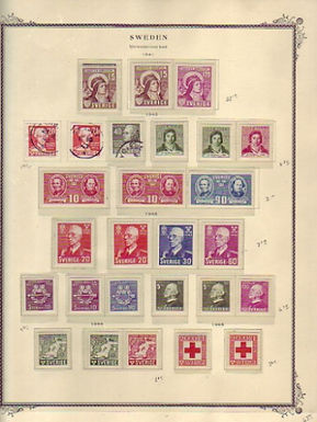 SWEDEN Stamp Collection -  Scott Specialty album with pages to 1975, Lot 1449