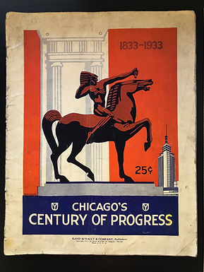 1933 Chicago World's Fair CENTURY OF PROGRESS Rand McNally Booklet
