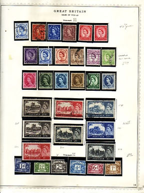 Great Britain Stamp Collection 1840 to 1960,  Lot 1323