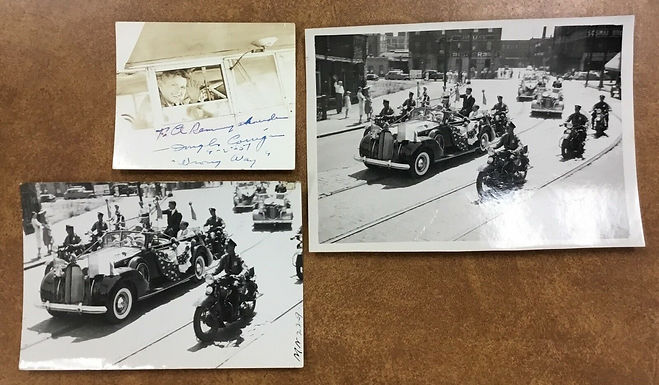 "DOUGLAS ""Wrong Way"" CORRIGAN Autographed Photo, Lot of 3 items"