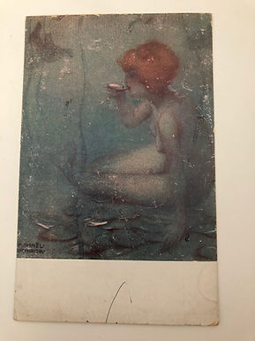 Vintage 1916 postcard Ondine by Illustrator Raphael Kirchner, PARIS