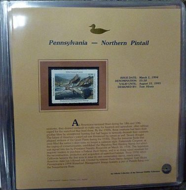 State Duck Stamps Lot 1498 - 1994 w/ COA