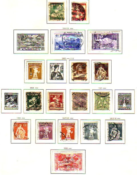 Switzerland Stamp Collection, 1850-1955, mint & used Lot 1093