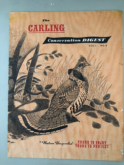 "Vintage 1947 Canadian Nature Conservation Magazine ""Carling"", Waterfowl Refuge"