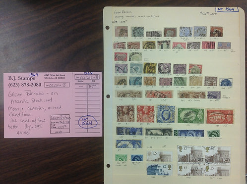 Great Britain Stamp Collection, Lot 1564