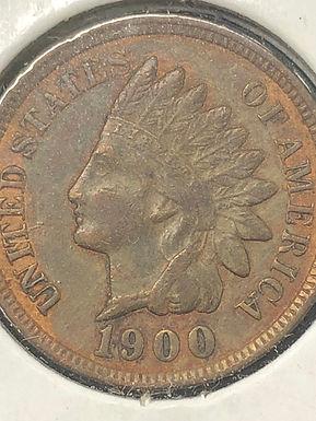 1900 Indian Head Cent, Penny AU