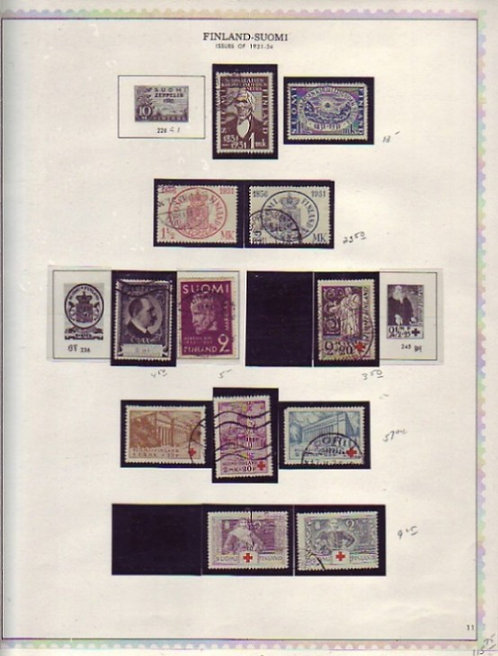 FINLAND Stamp Collection on Minkus pages to 1985, Lot 1456