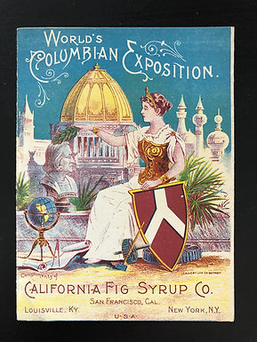 World's Columbian Exposition 1893 California Fig Syrup Co MAROON