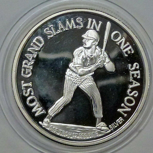1988 Don Mattingly Proof 1 ozt .999 Fine Silver Round LE YANKEES, Baseball