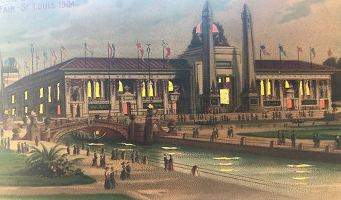 1904 St. Louis World's Fair Hold-To-Light POSTCARD Palace of Mines & Metallurgy