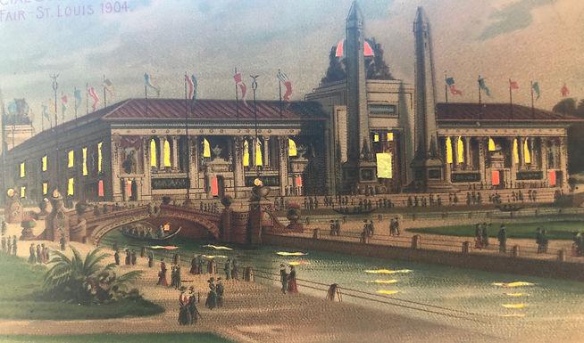 1904 St. Louis World's Fair Hold-To-Light POSTCARD Palace of Mines & Metallurgy